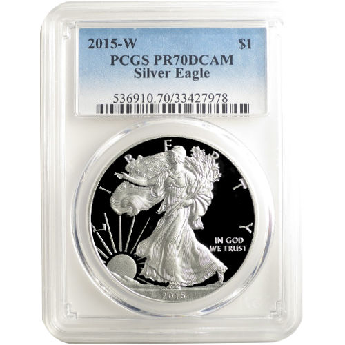 Buy 2015 W Proof Silver Eagle Coin Pcgs Pr70 Dcam Jm