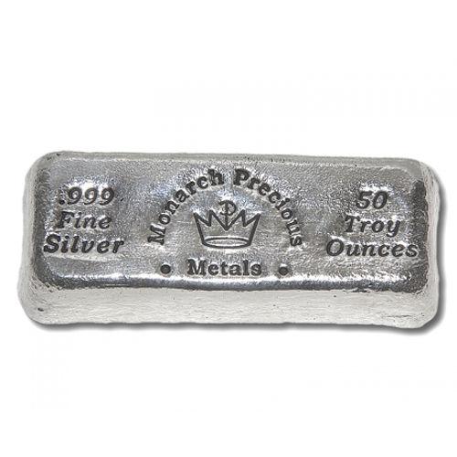 Buy 50 Oz Monarch Hand Poured Loaf Silver Bars L Jm Bullion
