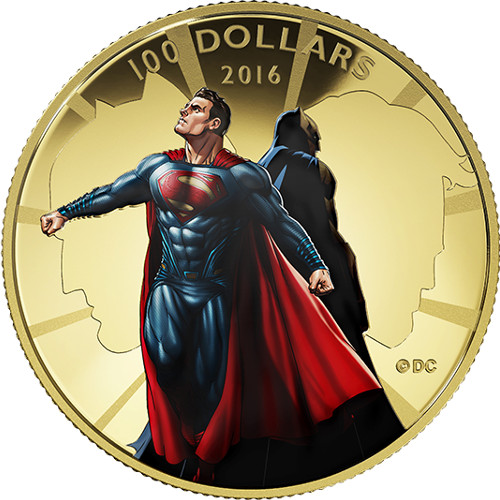 2016 Canadian $100 Proof Gold Batman V Superman Coin
