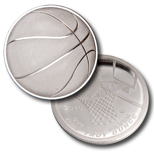 Buy 2016 1 Oz Monarch Domed Basketball Silver Round L Jm