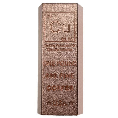 Buy 1 Pound Copper Bullion Loaf Bars 999 1 Lb L Jm