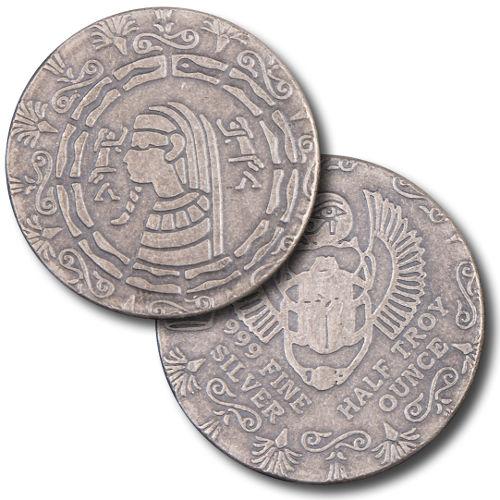 Buy 1 2 Oz Monarch Egyptian Silver Rounds L Jm Bullion