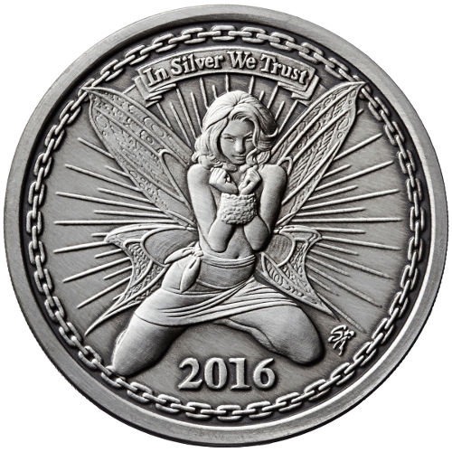 Buy 1 Oz Antique Silverbug Alyx The Fairy Silver Rounds
