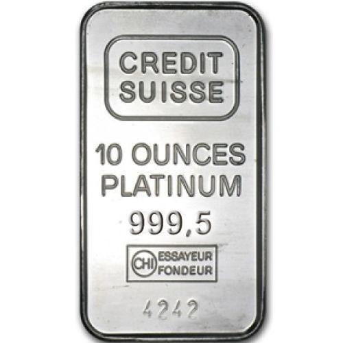 Buy 10 Oz Credit Suisse Platinum Bars W Assay L Jm Bullion
