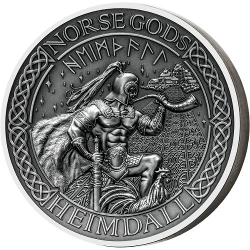 Buy 2016 2 Oz Cook Islands Silver Norse Gods Heimdall