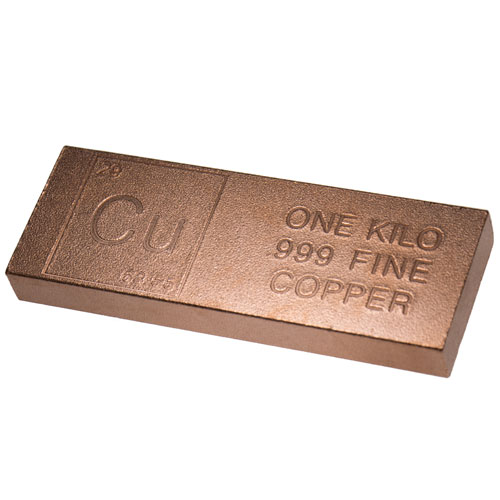 Buy 1 Kilo Copper Bullion Bars 999 L Jm Bullion