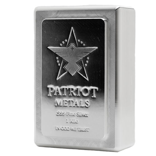 Buy 1 Kilo Patriot Metals Stacker Silver Bars Online New
