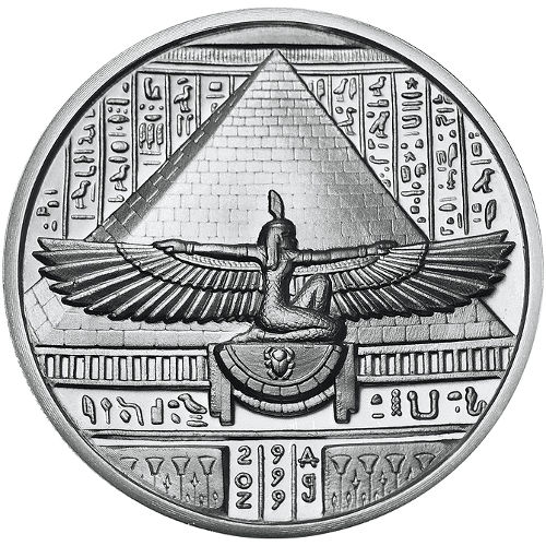 2 Oz Elemetal Egyptian God Series Cleopatra Silver Round
