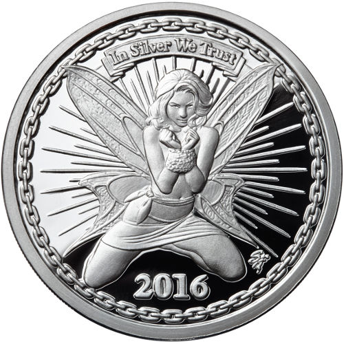 Buy 5 Oz Proof Silverbug Alyx The Fairy Silver Rounds Jm