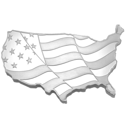 Buy 5 Oz Elemetal Usa Flag Silver Bars 166 Jm Bullion