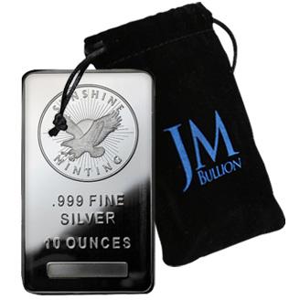 10 Oz Silver Bar Bullion Spot Free Ship Jm Bullion