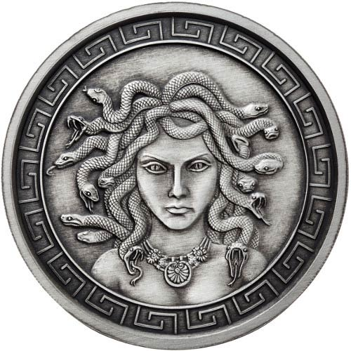Buy 5 Oz Antique Medusa Silver Rounds New Jm Bullion