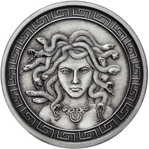 Buy 1 Oz Antique Medusa Silver Rounds New Jm Bullion
