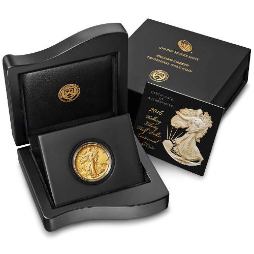 2016 1 2 Oz American Gold Walking Liberty Coin Jm Bullion