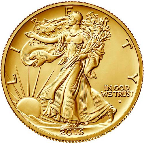 2016 1 2 Oz American Gold Walking Liberty Coin Jm Bullion