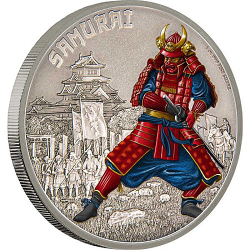 2016 1 Oz Niue Silver Warriors Of History Samurai Coins L