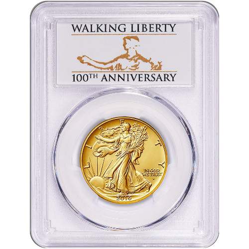 2016 1 2 Oz American Gold Walking Liberty Coin Pcgs Sp69