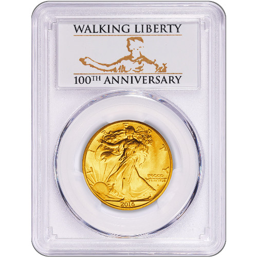 2016 1 2 Oz American Gold Walking Liberty Coin Pcgs Sp70