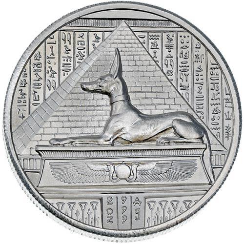 2 Oz Elemetal Egyptian God Series Anubis Silver Round 166 Jm