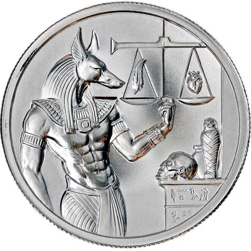 2 oz elemetal egyptian god series anubis silver round jm bullion. Black Bedroom Furniture Sets. Home Design Ideas