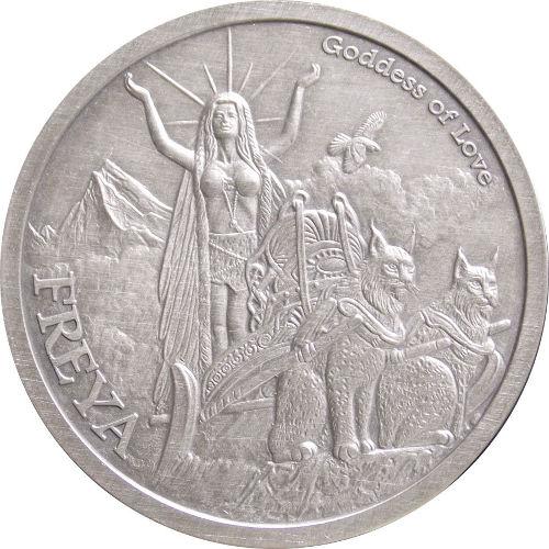 Buy 1 Oz Antique Norse God Series Freya Silver Rounds L Jm