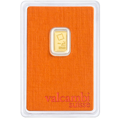 VOLUME PRICING 999.9 FINE GOLD COMBI BAR GRAM bar DISCOUNT---VALCAMBI 1