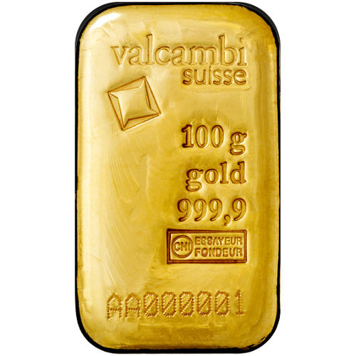 Buy 100 Gram Valcambi Cast Gold Bars New L Jm Bullion
