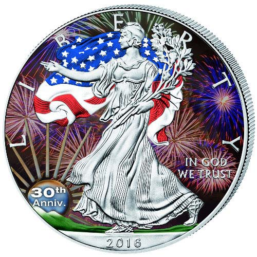 Buy 2016 1 Oz Colorized American Silver Eagle Coins Jm