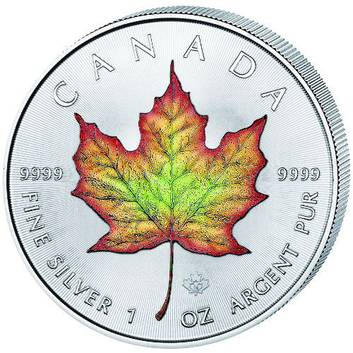 2016 1 Oz Colorized Canadian Silver Maple Leaf Coins Jm