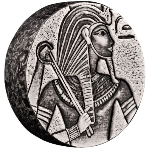 2016 5 Oz Republic Of Chad Egyptian Relic King Tut Coin