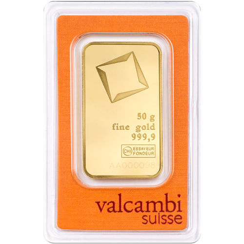 Sell Bitcoin To Credit Card >> Buy 50 Gram Valcambi Gold Bars (Brand New) l JM Bullion™