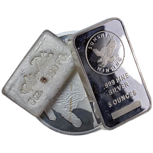 Buy Miscellaneous 5 Oz Silver Damaged Jm Bullion