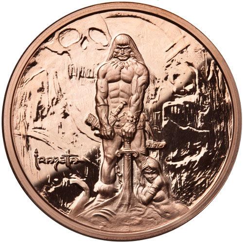 1 Oz Frank Frazetta The Barbarian Copper Round 166 Jm Bullion