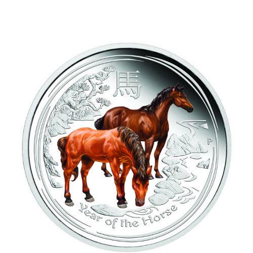 2014 1 2 Oz Proof Colorized Australian Horse Silver Coins L Jm Bullion