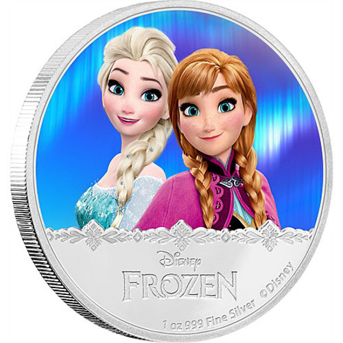 2016 1 Oz Niue Silver Disney Frozen Anna And Elsa Coins L