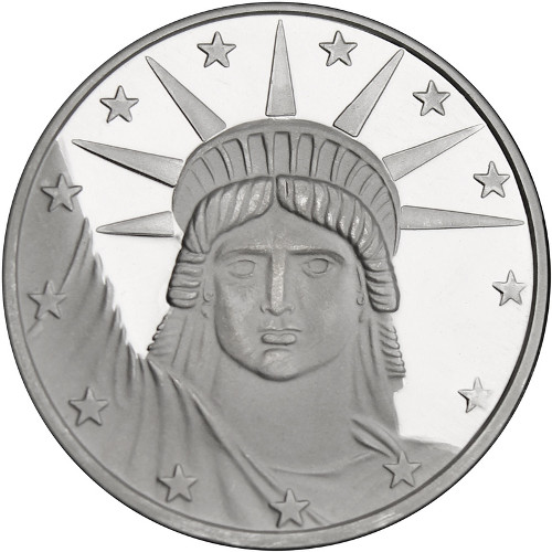 Buy 1 Oz Silvertowne Lady Liberty Silver Rounds L Jm Bullion