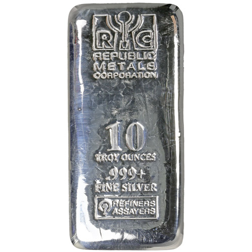 Buy 10 Oz Rmc Cast Silver Bars Online Brand New L Jm