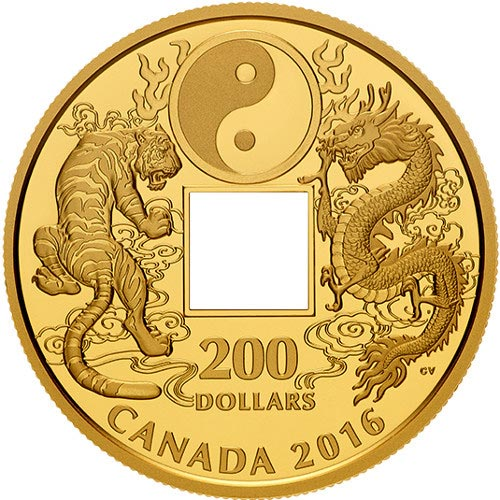 2016 Canadian Gold Tiger And Dragon Yin And Yang Coin