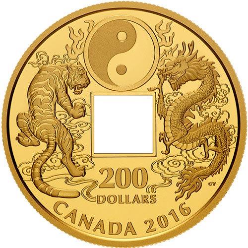 2016 Canadian Gold Tiger And Dragon Yin And Yang Coin