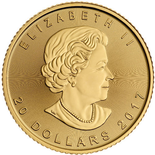 Buy 2017 1 2 Oz Canadian Gold Maple Leafs Jm Bullion