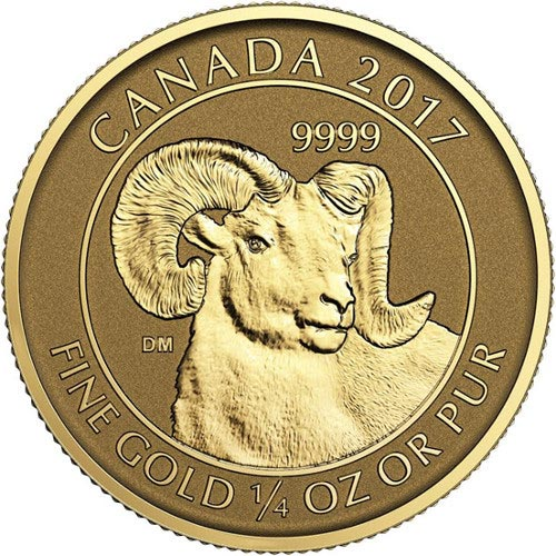 2017 1 4 Oz Canadian Big Horn Sheep Reverse Proof Coins