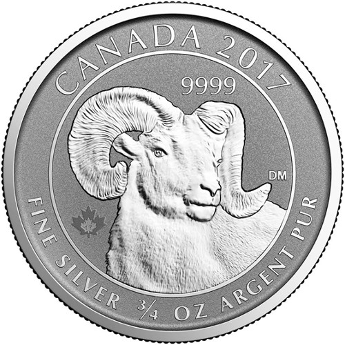 2017 3 4 Oz Canadian Big Horn Sheep Reverse Proof Coins L