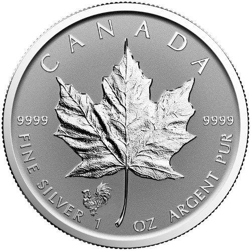 2017 Rooster Privy Canadian Silver Maple Leaf L Jm Bullion
