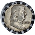 90-Silver-Frankklin-Half-Dollar-$10-Roll-COINS