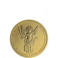 2015-1-Quarter-Oz-Ukranian-Gold-Archangel-Michael-Coin-BU-feat