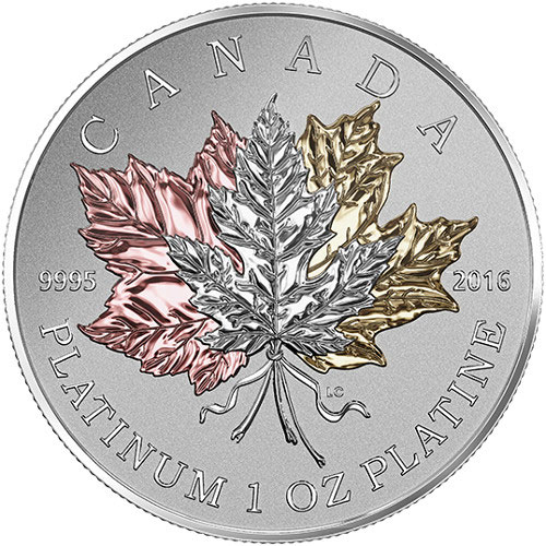 2016 Canadian Platinum Maple Leaf Forever Reverse Proof