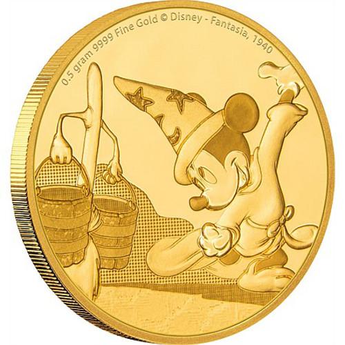 2017 1 2 Gram Niue Mickey Mouse Fantasia Gold Coins L Jm