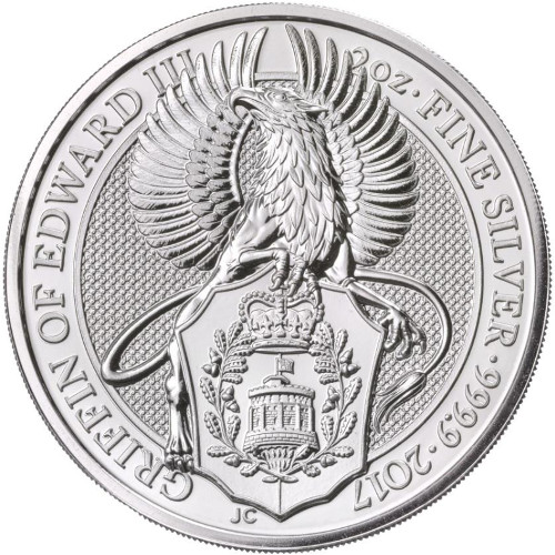 Buy 2017 2 Oz British Silver Queen S Beast Griffin Coins