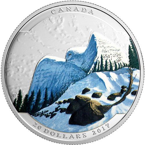 2017 1 Oz Canadian Silver Illusion Snowy Owl Coins