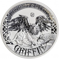 2016-2oz-Reverse-Proof-Solomon-Islands-Silver-Legends-and-Myths-Griffin-Coin